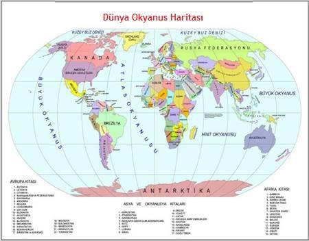 okyanusların haritası